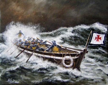 Nordsee Sturm DGzRS Schiff Kunstmaler Lukas Wirp