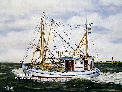 Nordsee Krabbenkutter Pelworm Sylt Amrum Schiffsbild