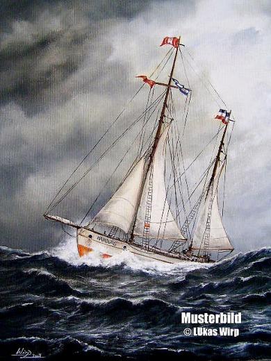 Segelschiff Hamburg Marinebild Ölgemälde Lukas Wirp