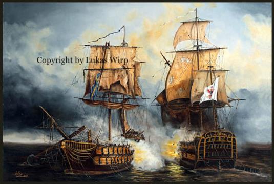 Seeschlacht deutsche Marine Lukas Wirp Marinemaler Schiffsbild
