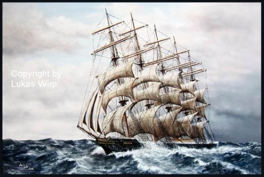 P.Liner Preussen Fünfmaster Fregatte Bark Lukas Wirp Marinemaler