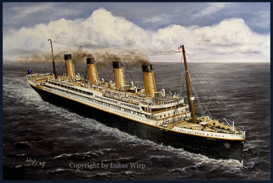 Passagierschiff RMS Titanic Eisberg Marinebilder Leinwand Poster