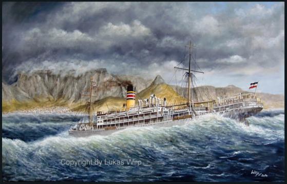 Passagier Frachtdampfer Schiffsbild Lukas Wirp Tafelberg Reederei