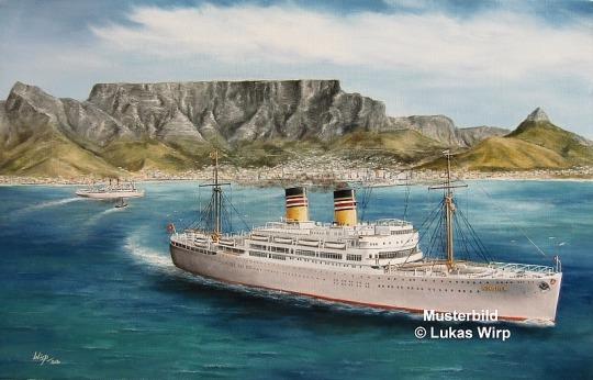 Turbinen Schiff Bild DAL Deutsche Afrika Linie Reederei
