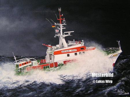 Rettungskreuzer Seenot DGzRS Lukas Wirp Marinemaler Kunstmaler