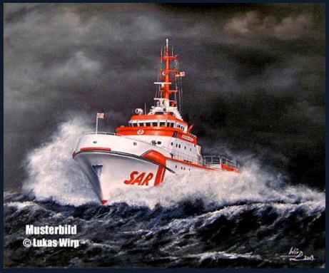 DGzRS Künstler Lukas Wirp maritimes Bild