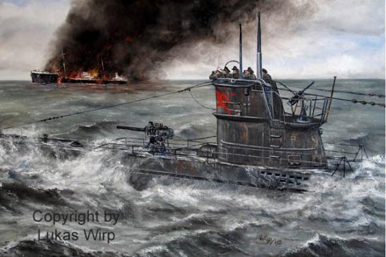 Maritime Gemälde Bilder Poster deutsche Marine U-boote Kriegsmarine