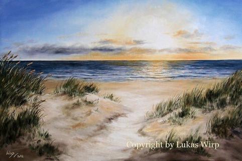 Meeres Bilder, Sees Bilder, Abend, Strand, Dünen, Sylt