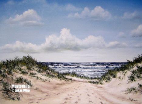 Gemälde Meer Strand Sonne Sylt Nordsee Marinemaler Lukas Wirp