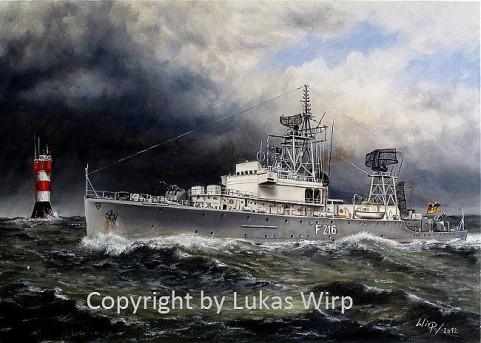Schiffsbilder, Marinemaler Lukas Wirp, Marinebilder, maritime kunst