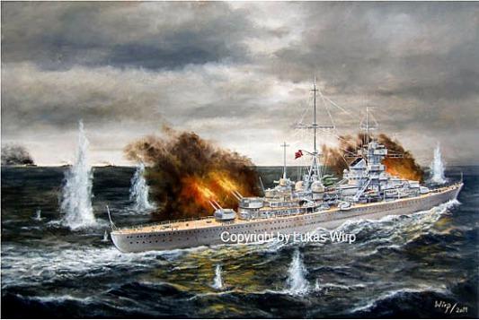 Deutsche Marine Kreuzer Hipper Seegefecht Schiffsbild Lukas wirp