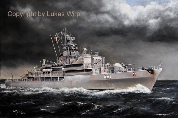 Deutsche Bundesmarine Schiffsbilder Lukas Wirp Künstler Kunstmaler maritime Bilder