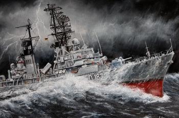 See Sturm gewitter Zerstörer Marine Deutsche Bundeswehr