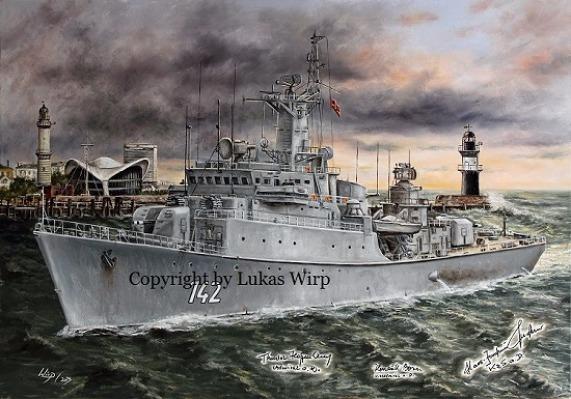 DDR Volksmarine 141 Rostock 142 Halle Küstenschutzschiff Lukas Wirp