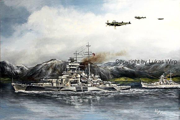 Schlachtschiff Tirpitz Scharnhosrt Fjord Marinebild Lukas Wirp