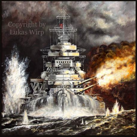 Gefecht Bismarck Endkampf Hood Princo of Wales