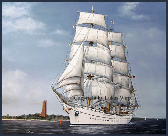 Segelschulschiff Grosssegler Bark viermaster schöne Schiffe Bild