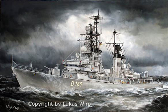 D187 rommel Zerstörer D186 Mölders Zerstörer Bild Marine deutsche