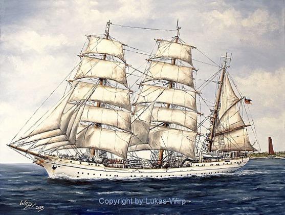 Schiffsbilder, Marine, Maler, Lukas Wirp, Großsegler