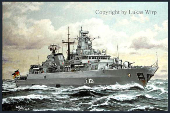 Bundewehr , Deutsche , Marine , Militär , bilder , Marinemaler Lukas Wirp