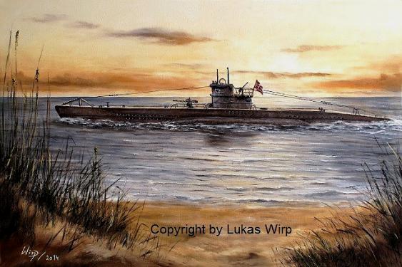 Marine maler Lukas wirp U-Boot Kriegsmarine deutsche Marine Bilder Poster