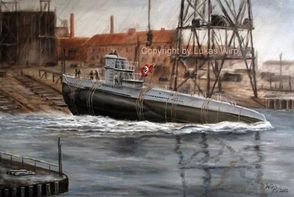 Deutsches U-Boot Werft Kreigsmarine Mainebild Lukas wirp