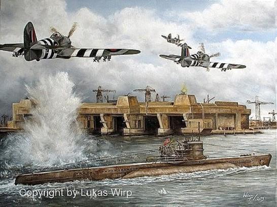 Bunker 2. Weltkrieg U-Boot Loirent Frankreich Invasion