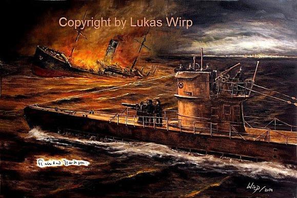 Kunst U-Boot Waffe 2. Weltkrieg Militärbilder Militaria U-Boot Marine