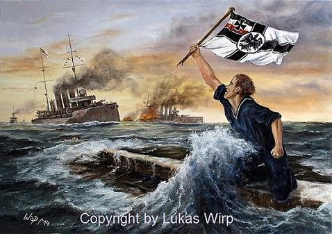 Lukas wirp Marinemaler 1. Weltkrieg U-Boot Schlachtschiff