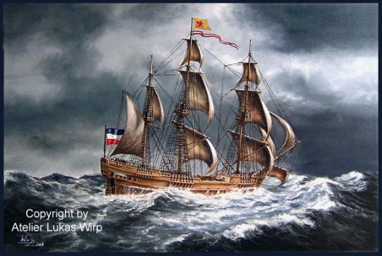 Schiffsbild maritmes Gemälde Marinebilder Lukas Wirp