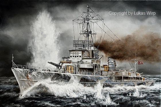 Seegefecht , Biskaya , Zerstörer , Deutsche , Marine , 8. Flotille , Bilder , Lukas Wirp