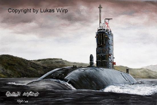Englisches Atom U-Boot der Royal Navy Lukas Wirp