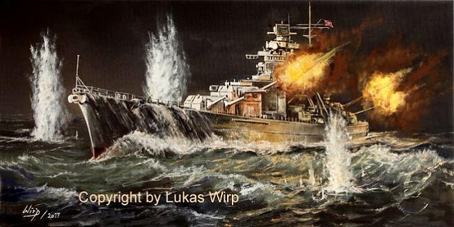 Kriegsmarine, 2. Weltkrieg, Bismarck, Prinz Eugen, Schlachtschiffe, Bilder
