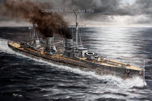 1. weltkrieg, Marine, Seydlitz, bilder, Marinemaler