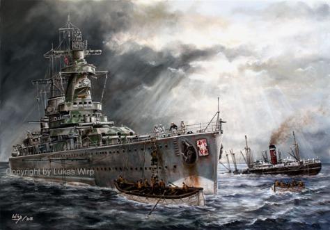 Schlachtschiff Bismarck, 2. Weltkrieg, Marine, Marinemaler