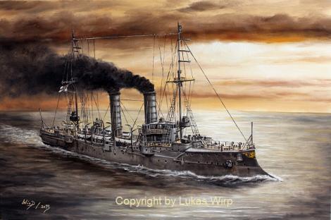 Marine, 1. Weltkrieg, Marinemaler, Lukas Wirp
