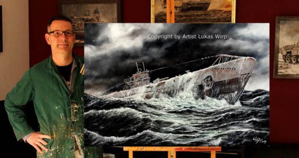 Kunstmaler, Marinemaler, Lukas Wirp, U-Boote