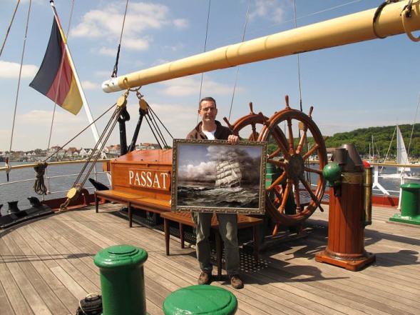 Marinemaler, Lukas Wirp. Schiffs, Bilder, Gemälde.
