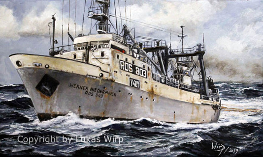 DDR, Hochsee, Fischerei, flotte, Gefriertrawler