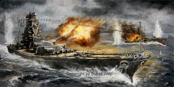 Japanese, battleship, Yamato