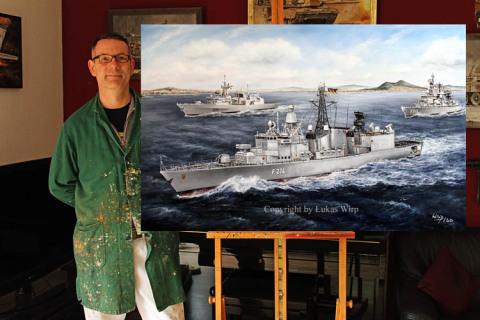 Marine, Bilder, Lukas Wirp, Atelier