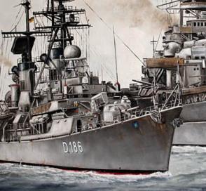D186 , Bundesmarine, Zerstörer Mölders, Marine, Bundeswehr