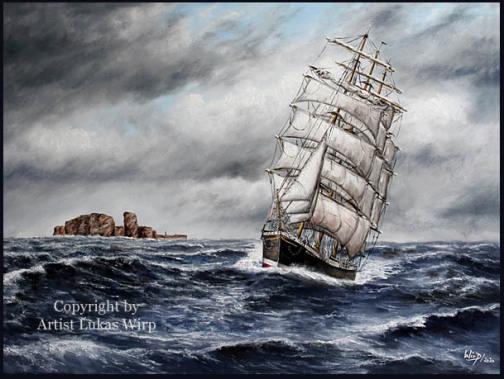 P-Liner, Marinebild, Segler, Nordsee