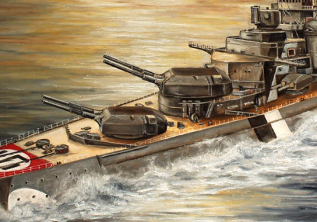 Bismarck, Geschütze, Anton, Bruno