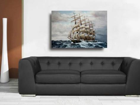 Vollschiff, P-Liner, Fünfmaster, maritime Kunst