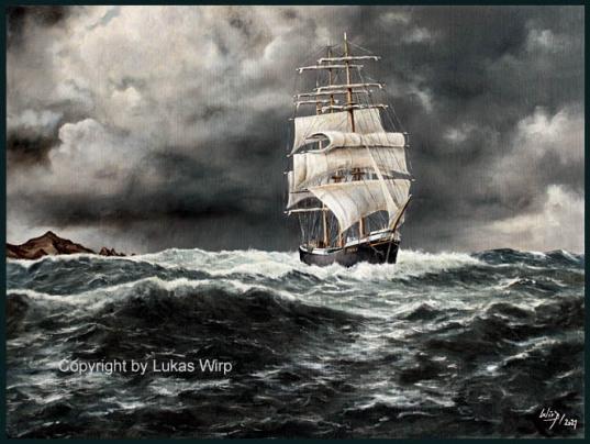 Großsegler Pamir Flying P-Liner, Gemälde