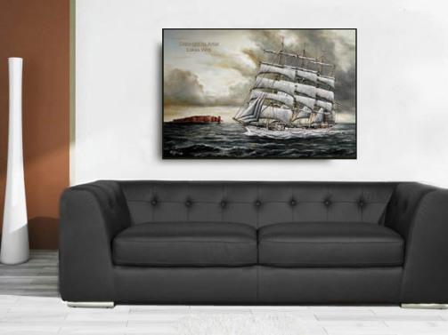 Maritime Gemaelde, Marine Bilder von Segelschiffen
