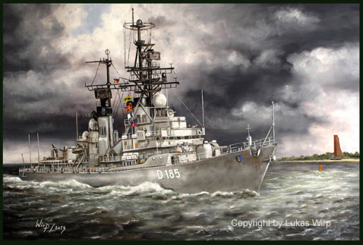 Bundesmarine Zerstörer D185 Lütjens