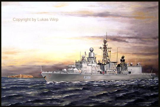 Bundeswehr Fregatte der Bremen Klasse