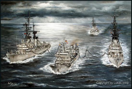 D185 Lütjens Zerstörer, D186 Mölders und D187 Rommel